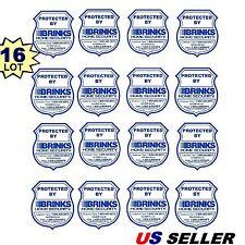 16 BRINKS ADT Home Security Alarm System Police Badge Warning Sticker Decals