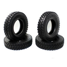 4pcs Rubber Tires Tyres For Tamiya 1:14 Tractor Truck Trailer Climbing Car Model