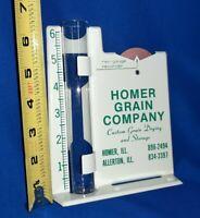 Nice Vintage Homer Grain Company Homer Allerton Illinois Rain Gauge Recorder