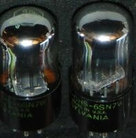 EXCELLENT MATCHED PAIR 6SN7W SYLVANIA VINTAGE TUBES VT-231 6SN7WGT 5692 * 6SN7