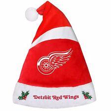 Detroit Red Wings Team Logo Holiday Plush Santa Hat NEW! Christmas 2016