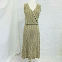 The Territory Ahead Women's Sz 6 Small Dress Green Cream Floral Cotton #X