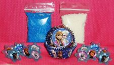 Frozen,Cupcake Kit, Rings,Sprinkles,Bake Cups,Wilton,Party,415-4500,White/Blue