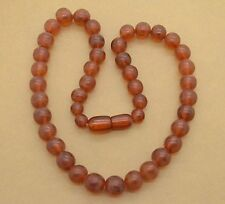 Vintage Baltic Necklace Amber Jewelry Beads 22 gr