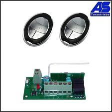 Torantrieb Funkset - Empfänger 12-24V AC/DC mit 2 Handsender B12 433Mhz.