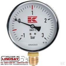"""Slurry Tanker MEC BP Vacuum Pump Pressure Gauge 100mm x 1/2"""" BSP Thread"""