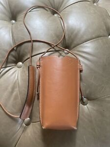 Authentic loewe Brown Leather Phone Bag