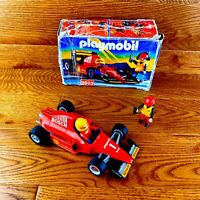 Large Vintage Playmobil 1996 F1 Race Car 3603 Nearly Complete Outstanding Cond