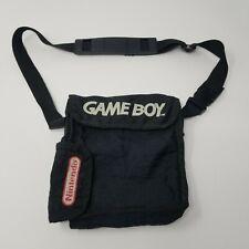 Vintage Nintendo Gameboy Carrying Case Bag Black Shoulder Strap Video Game