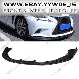 Carbon Fiber Front Bumper Lip Splitter For Lexus IS250/350/300 F-Sport 2014-2016