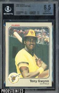 1983 Fleer #360 Tony Gwynn San Diego Padres RC Rookie HOF BGS 8.5 NM-MT+