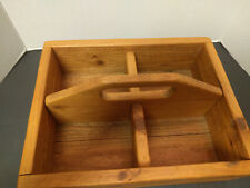 FARMHOUSE COUNTRY HOME WOOD CADDY TOOL BOX PRIMITIVE