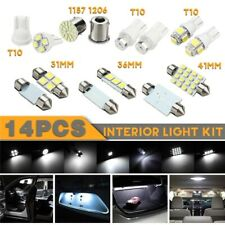 14Pcs Auto Car Interior T10 LED Light Dome License Plate Mixed Lamp Set 31/36mm