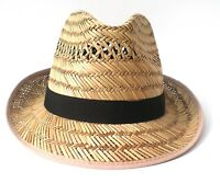 Chapeau de Paille pour Hommes Récolte Garten Party Vacances Trilby en 55 - 61