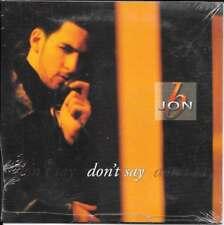 CD SINGLE 2 TITRES--JON B--DON'T SAY--1997--NEUF