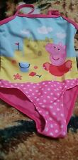 Lovely Girls peppa pig Swimming Costume Age 3 Years