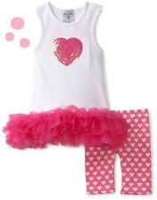NEW Mud Pie TUNIC DRESS & CAPRIS Size 0-6M Baby Girls Set MSRP $49