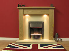 "NEW ENGLISH MADE STANFORD FIRE SURROUND 48"" FINISHED IN NATURAL OAK"
