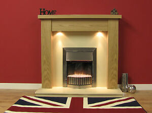 """NEW ENGLISH MADE STANFORD FIRE SURROUND 48"""" FINISHED IN NATURAL OAK"""