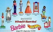 1999 McDonalds Barbie MIP Complete Set - Lot of 8, Girls, 3+