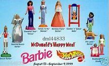 1999 McDonalds Barbie MIP Complete Set - Lot of 8, Girls, 3+