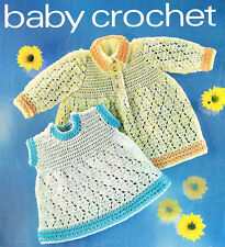 2 Baby Dress Crochet Knitting Pattern 99p