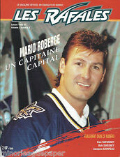 1996-97 Quebec Rafales International Hockey League Program IHL #FWIL Nordiques