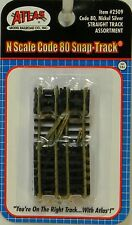 NIB N Atlas #2509 Code 80 Straight Track Assortment 10 Pieces