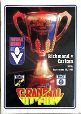 1982 RICHMOND V CARLTON GRAND FINAL FOOTBALL RECORD