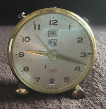 Vintage Swiss Made Herz Alarm 8 Days Clock
