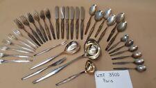 WMF 3500 - Paris Tafelbesteck + Kaffeebesteck + Vorleger 6 Personen 90er Silber