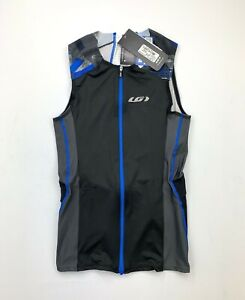 Louis Garneau Pro Carbon Top Tri Men's Medium Black Blue New
