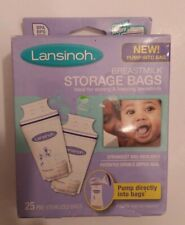 Lansinoh Breastmilk Storage Bags. 25 pre-sterilized bags. Pump directly into bag