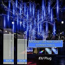 LED Meteorschauer Schneefall Eiszapfen Lichterregen Lichterkette Weihnachtsdeko