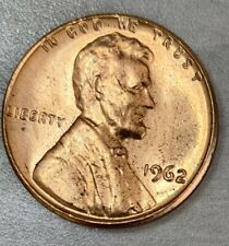 1962-P Lincoln Memorial Penny Uncirculated US One Cent Coin