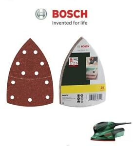 BOSCH Mixed Grit Delta Sanding Sheets (25 Pack) (To Fit: Bosch PSM 160A Sander)