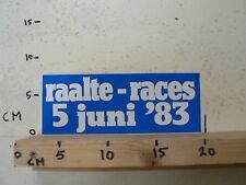 STICKER,DECAL RAALTE RACES 5 JUNI 1983 WEGRACE LUTTENBERGRING D