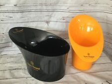 Champagne Veuve Clicquot Ponsardin Ice Buckets Black & Orange Set