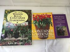 3x Container Gardening Books Recipes Gardening Through The Year Window Box