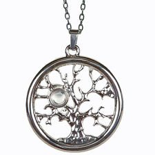 AngelStar Serenity Prayer Tree of Life Magnifier Viewer Pendant Necklace 13866