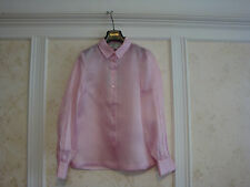 NWT $498 KATE SPADE MADISON AVE COLLECTION GINI TOP BLOUSE 6 PINK 100% SILK