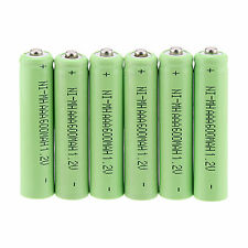 New 6Pcs AAA 3A 1.2 V 600mAh NI-MH rechargeable battery for Toys Green color