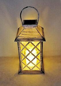 Solarize ® Large Garden Solar Flickering Flame LED Candle Lantern Bright Light