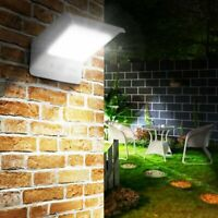 Solar Powered PIR Motion Sensor LED Security Wall Light Outdoor Garden Gate Lamp