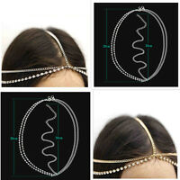 Women Bohemian Metal Silver/Gold Head Chain Jewelry Forehead Headband Piece Hair