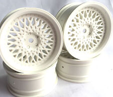 Rc voiture 1/10 drift fm spoke rim roue 6mm offset fit Tamiya HPI 12mm hex blanc 4