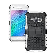 Fr Samsung Galaxy J1 2016/Express 3 Hybrid Armor Kickstand Case Shockproof Cover