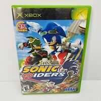 Sonic Riders Original Xbox Game Complete W/ Manual- Tested & Working - Clean