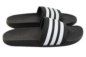 Adidas Adilette Shower Slides Black & White Ap9966 Men's Size 11