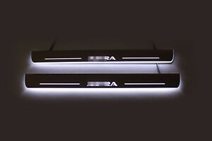 Led Stainless Steel Door Sill Scuff Plate Guards 2pc For Opel Astra K 2015-2019